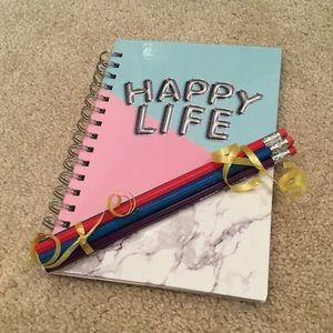 Happy Life Planner w/ Bundle of Pencils